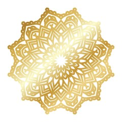 Gold vector mandala
