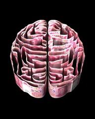 中国紙幣で作った脳