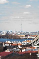Saint Petersburg TV Tower. View on the Saint-Petersburg.
