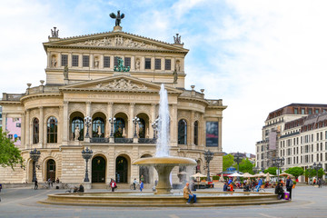 Fototapeta Oper und Opernplatz Frankfurt am Main