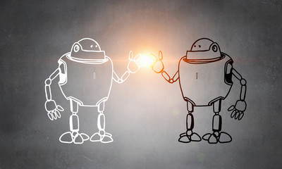 Hand dran robot
