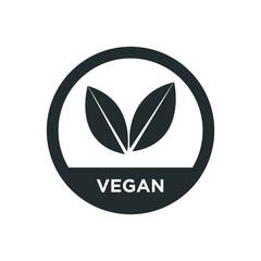 Vegan icon. Vector illustration.