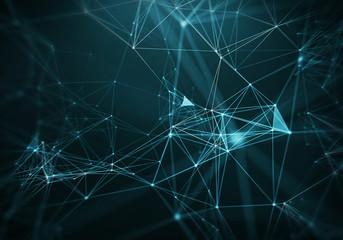 Abstract Blue Geometrical Background ..Futuristic technology style. Neon Sign .   HUD Element . Elegant   . Big data visualization .