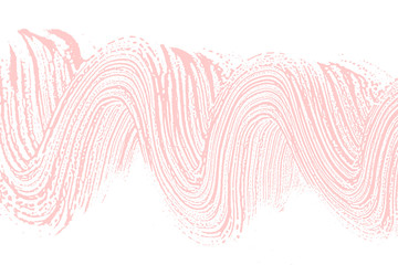 Natural soap texture. Alluring millenial pink foam trace background. Artistic fresh soap suds. Cleanliness, cleanness, purity concept. Vector illustration.