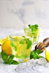 Homemade summer lemonade.