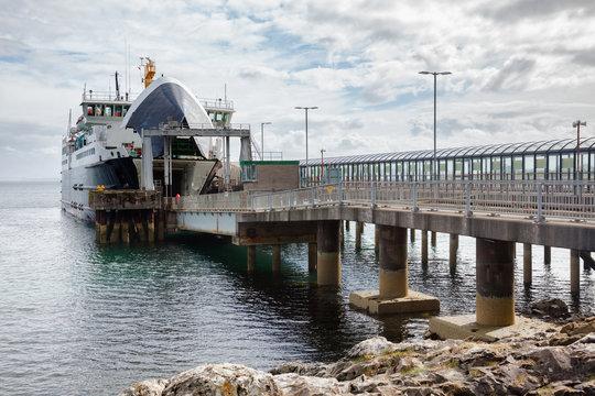 Ferry at terminal Inner Hebrides Scotland UK