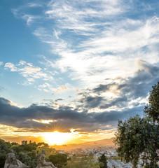 City Barcelona Spain Sunset