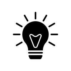 old bulb with light. simple single icon