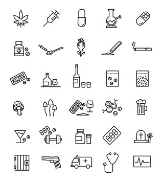 Streamline drug icon pack