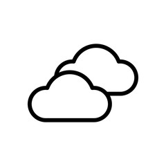 Mostly cloudy icon. Simple linear icon with thin outline