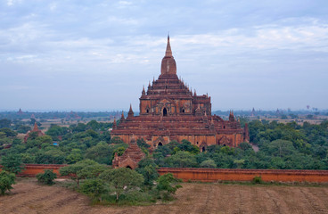 Famous ancient Sulamani pagoda in Bagan, Mandalay Division of Myanmar