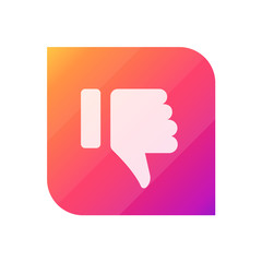 Thumbs Down - APP Icon (Vector)