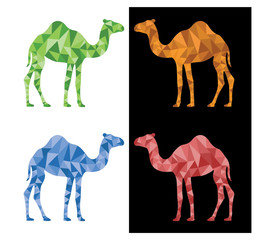 Camel With Polygon Background