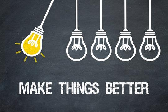 Make things better / Lampen / Konzept