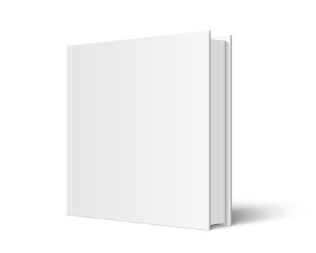 Closed square hardcover book mockup