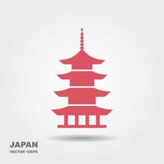 Japan architecture symbol pagoda
