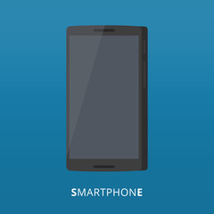 Smartphone icon in modern flat style. Symbol of telephone, vector illsutration. Touchscreen device icon
