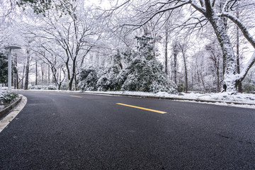 winter road cover snow