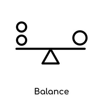 Balance icon isolated on white background