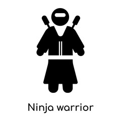 Ninja warrior icon isolated on white background
