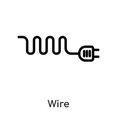 Wire icon isolated on white background