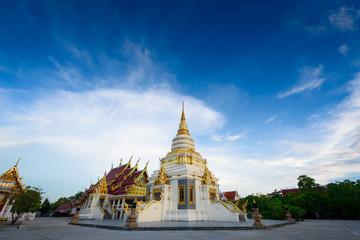 Golden Pagoda Temple tourist attraction in Pattaya,Thailand