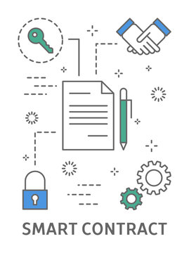 Smart contract illustration.
