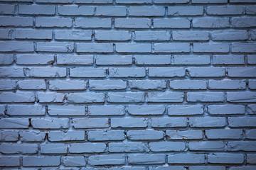 Background of old vintage dark blue brick wall.