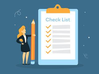 Checklist concept illustration.