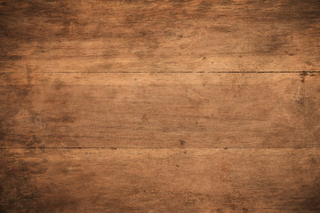 Old grunge dark textured wooden background,The surface of the old brown wood texture,top view brown wood paneling Fototapete