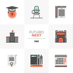 School Education Futuro Next Icons