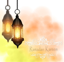 Vector Illustration Ramadan Kareem Lantern.