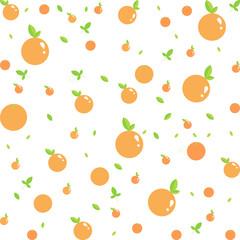 Seamless vector orange fruit pattern.vector, illustration.