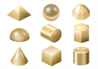 Gold metal forms 3