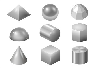 Silver metal forms