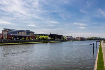 Le Vistule à Cracovie, entre le quartier Juif et le Ghetto