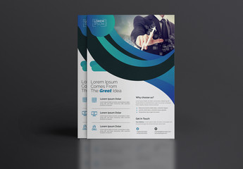Blue Gradient Business Flyer Layout