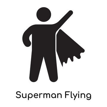 Superman Flying icon isolated on white background