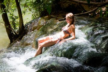 Tourist Krabi hot springs waterfall