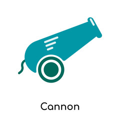 Cannon icon isolated on white background