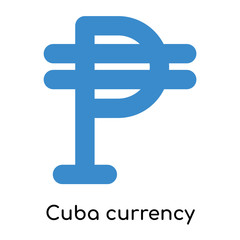 Cuba currency icon isolated on white background