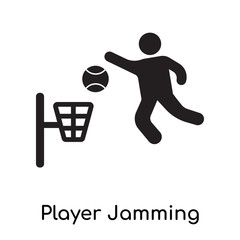 Player Jamming icon isolated on white background