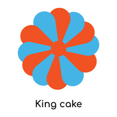 King cake icon isolated on white background