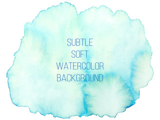 olorful abstract vector background. Soft blue and green waterc