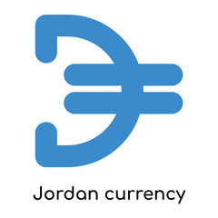 Jordan currency icon isolated on white background