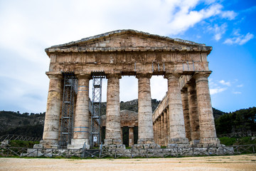The Doric temple of Segesta in Sicily, italy