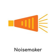 Noisemaker icon isolated on white background