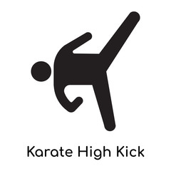 Karate High Kick icon isolated on white background