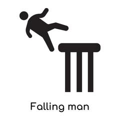 Falling man icon isolated on white background
