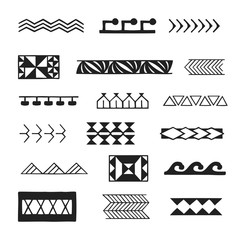 polynesian tattoo indigenous primitive art.
